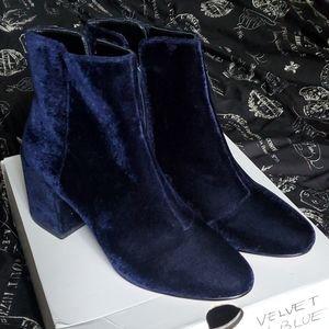 ALDO- BLUE SUEDE BOOTS